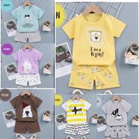 Baju Anak Bayi Cowok Cewek 0-4 Thn Set Pendek Anak Laki-Laki Perempuan