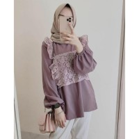 Lady Blouse Atasan Baju Muslim Wanita Remaja Terlaris - Lavender