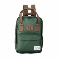 Tas Ransel Wanita Casual Mini Backpack Laptop Atva Kubo Olive