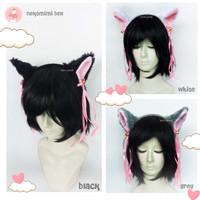 Bando Karakter kucing Nekomimi Putih Pita Lonceng Cosplay Kpop