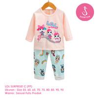 Setelan Baju Tidur Anak Perempuan Import Panjang LOL C Shirton