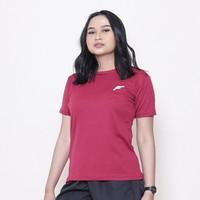 FELCO Basic Shirt MAROON Kaos Baju Olahraga Fitness Sport Cewek Wanita - S
