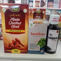 Paket Habbatussauda Qusthul Hindi Plus Sambiloto Anti Virus Antibiotik
