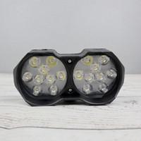 Lampu Tembak Motor ATV LED Spotlight 12V/24V 18 LED - U9 - Black