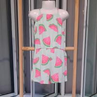 QUEEN KIDSWEAR JUMPSUIT/BAJU ANAK PEREMPUAN BRANDED - Watermelon, 5 tahun