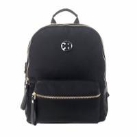 Backpack Wanita TB* Tilda Nylon Zip Backpack 51334# - Hitam