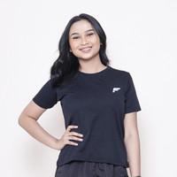 FELCO Basic Shirt HITAM Kaos Baju Olahraga Fitness Sport Cewek Wanita - S