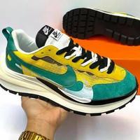 Sepatu Nike X Sacai Bapor Waflle tour Yellow Gorge green