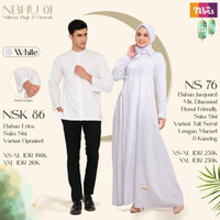 Couple Gamis Dan Koko Nibras Dress Baju Muslim Terbaru NBHU 01 - Hitam, XS