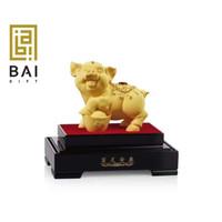 TERBARU !!! Patung Shio Babi Lapis Emas Pajangan Shio Babi S Souvenir - M 150*108*178MM