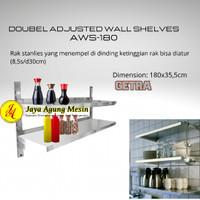 DOUBLE ADJUSTABLE WALL SHELF GETRA AWS-180 / Rak Dinding Dapur