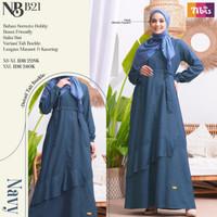 Gamis Nibras Dress Baju Muslim Wanita Dewasa Terbaru NB B21