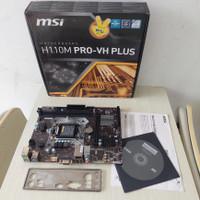 Motherboard H110 MSI H110M PRO-VH PLUS Intel 1151 Skylake Kabylake DDR
