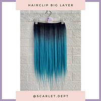 Hairclip Hair Extension Clip Ombre Blue Tosca Layer REINA - Ryuuta Wig