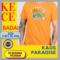 Kaos pria keren baju distro cowok remaja dewasa paradise terbaru murah - Mustard, S