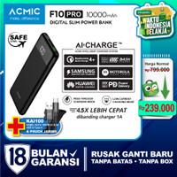 ACMIC F10PRO 10000mAh AiCharge Slim Digital Power Bank QC4 + PD + VOOC