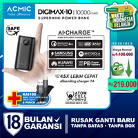 ACMIC DIGIMAX SuperMini Digital AiCharge Power Bank (QC4 + PD + VOOC)