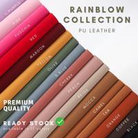 READY Kulit Imitasi / Bahan Sintetis / PU Pastel Collection - RAINBLOW