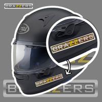 BRAZZERS STIKER RESIN TIMBUL STIKER MOTOR SATUAN IMPORT