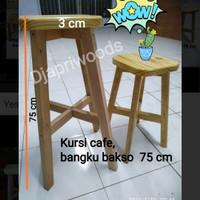 bangku kayu kursi bakso kayu pinus uk 70 cm