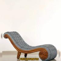 Kursi Sofa Keong Kayu Jati Bangku Malas Kekinian Untuk Bersantai