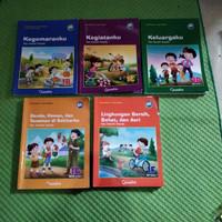 TEMATIK Untuk SD/MI kelas 1 ( 1B,1C,1D,1F,1G) Quadra ' Paket 5 buku