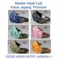 masker kain 3 lapis hijab (bisa tambahkan tissue)bahan katun jepang