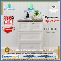 Olymplast Lemari Laci Baju Drawer Cabinet 3 Susun ODC 03 CLASSIC - Putih