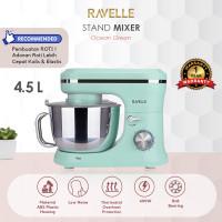 Ravelle Stand Mixer 4.5 L - Standing Mixer - OCEAN GREEN