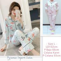 Baju Tidur Cewek Piyama Import Satin LD 102