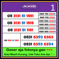 NOCAN Axis NOMOR CANTIK Axis Premium murah