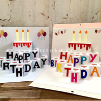 "3D Pop-Up Card ""SKY"" [Greeting Card] / Kartu Ucapan / DIY"