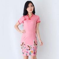 Baju Batik Wanita-Dress Batik Wanita red navi merak Size M, L merak