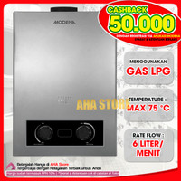 Modena Gas Water Heater Pemanas Air Rapido GI-0632-V