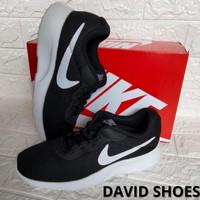 Sepatu Pria Sport Nike tanjun Trainer Hitam Putih Casual Santai_David