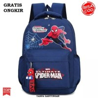 GRATIS ONGKIR Tas Ransel Anak TK SD SMP Laki Laki Cowok Spiderman 3