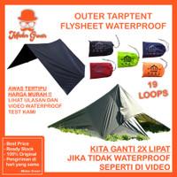 Flysheet 2X3 Mahesa Outdoor Waterproof Tarp tent Atap Tenda Bushcraft