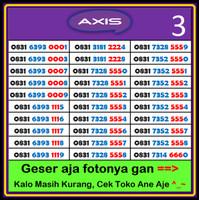 Nomor Cantik AXIS mudah di hafal
