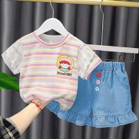 Setelan Anak Perempuan Set Baju Anak Import Real Picture Stelan Kaos 7 - S