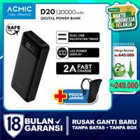 ACMIC D20 20000mAh Digital Display + 2A Fast Charge PowerBank