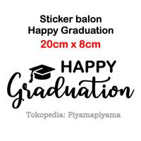 sticker balon happy graduation