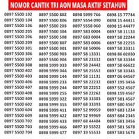 Tri 11 DIGIT THREE TRI 3 4G Kartu Perdana Nomor Cantik Nocan Murah