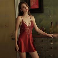 Venus Leon ~ Marissa Red Sexy Lingerie Baju Tidur Seksi