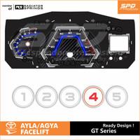 Panel Speedometer Custom Agya 1.2 - SPD Speedometer - Abu-abu
