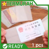 sampul DOFF Cover Kartu ATM SIM KTP PLASTIK Pelindung Kartu Anti Gores