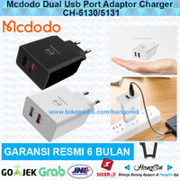 MCDODO Travel Charger USB Dual Port QC 3.0 Fast Charging Like Aukey