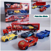 Mainan Truk Kontainer Box Isi Diecast Mobil Balap Container Truck Box