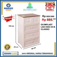 Olymplast Lemari Laci Baju Drawer Cabinet 4 Susun ODC 04 CLASSIC - Putih