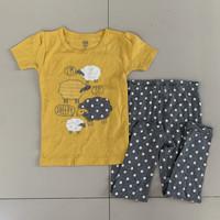 Baju Tidur Anak Perempuan Carter Yellow Sheep