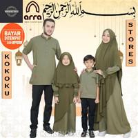 Baju Kapel Keluarga Gamis Ibu Pria Anak Arra Sarimbit Rayyan Wanita